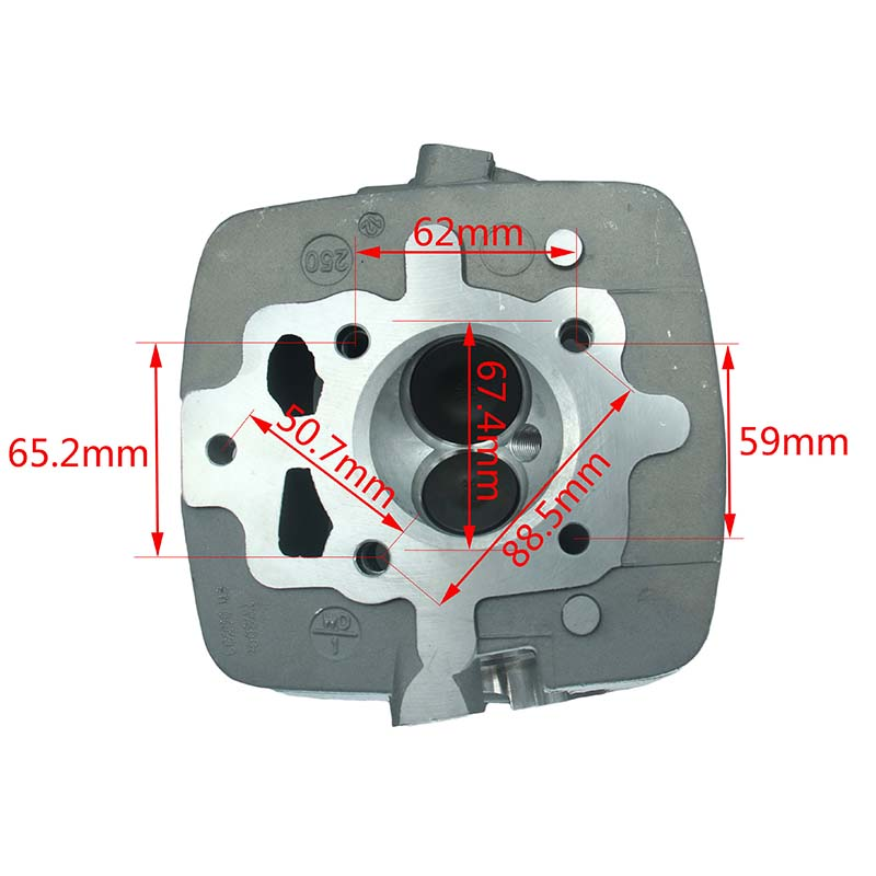 250cc CG250 Air Cooled Cylinder Head fit for Zongshen Loncin