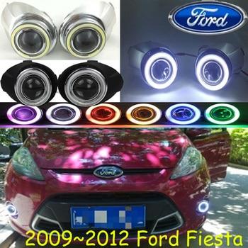 Car bumper headlight for Ford Fiesta fog light 2009 2010 2011 2012y car accessories halogen Fiesta head light