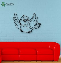 YOYOYU Wall Decal Vinyl Art Wall Sticker Cute Bird Decor Removeable Home Decoration Mural Children's Room Nursery Poster YO498 императорский фарфоровый завод скульптура дама с арапчонком