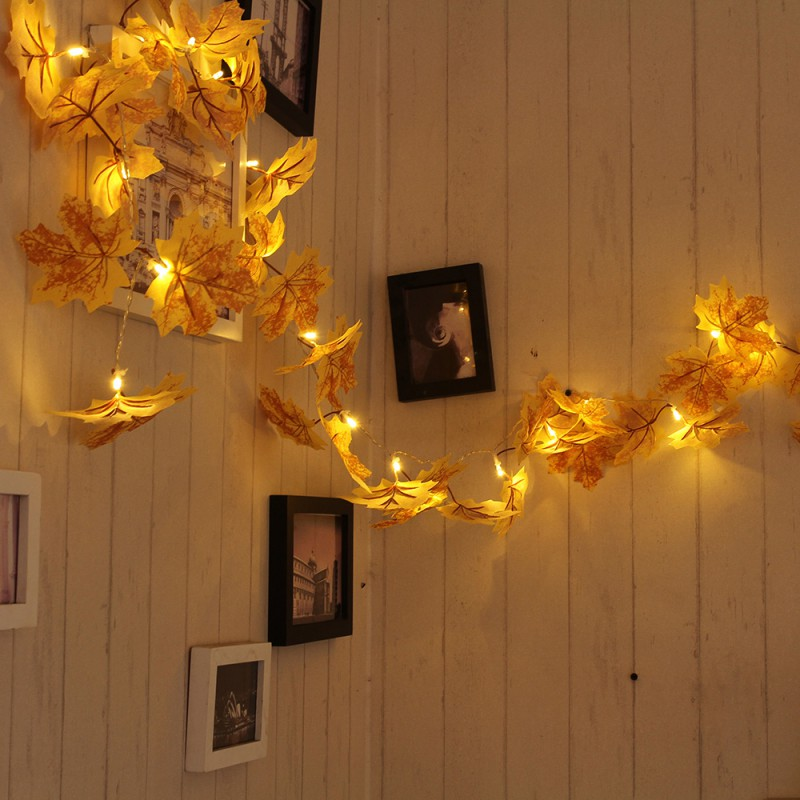 10/20 LED Maple Leaves Decorative Lights String Home Indoor Decorative Lights Home Decor