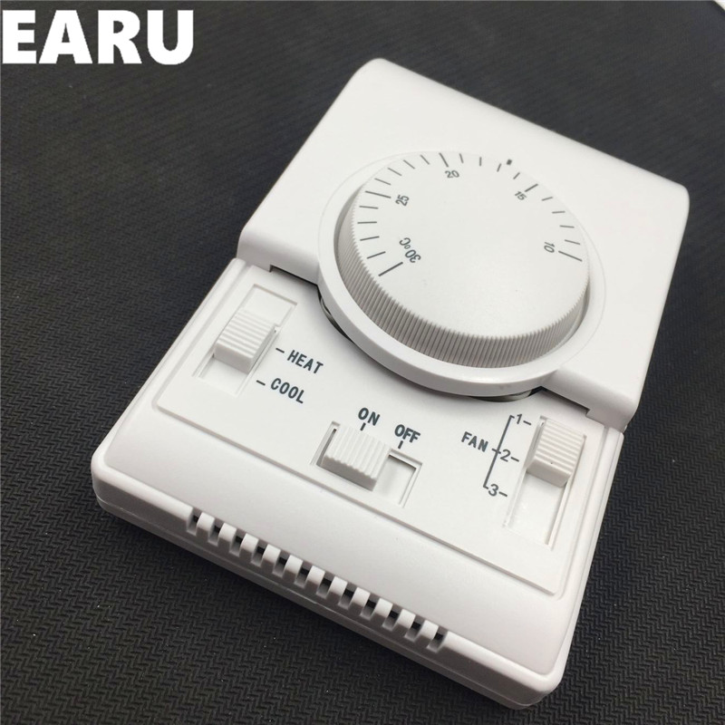 цена на Free Shipping MT01 220VAC Honeywell Room Mechanical Thermostat Air Conditioner Fan Coil Thermostat Tempertaure Controller Warm