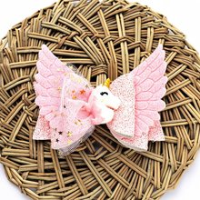 Girls' Wings Shaped Unicorn Hair Clip