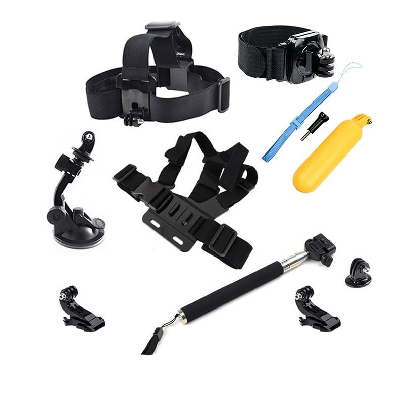 gopro accessories with camera strap selfie stick for gopro hero5 4 3 2 sjcam sj5000 m10 m20 eken. Black Bedroom Furniture Sets. Home Design Ideas