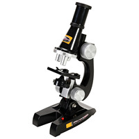 Дети Начинающий Новый микроскоп комплект игрушки со светодио дный 100X 200X 450X увеличение лаборатория научный биологический инст
