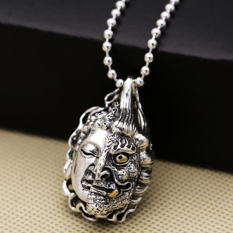 925 sterling silver buddha devil pendant jewelry(FGL)925 sterling silver buddha devil pendant jewelry(FGL)