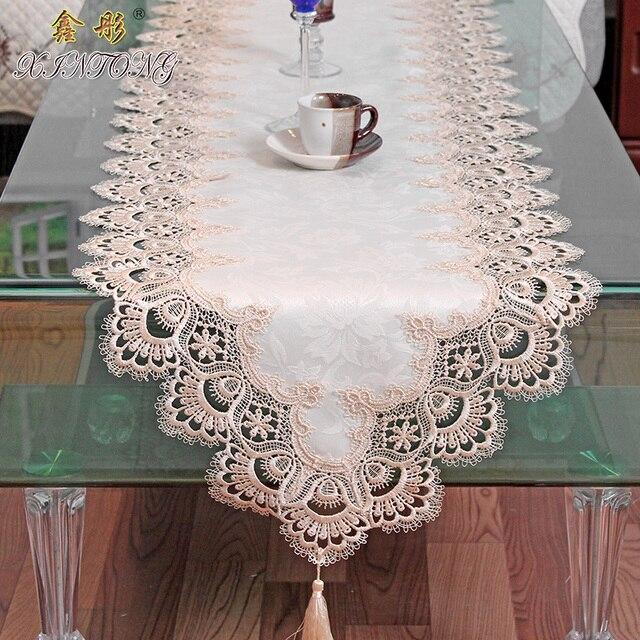 ファッション ヨーロッパ素朴な水溶性テーブル ランナーテレビキャビネット テーブルクロス芸術ベッド パッド テーブル
