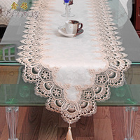Fashion European Rustic Water-soluble table runner TV cabinet tablecloth art bed pad table cover for wedding decoration textile