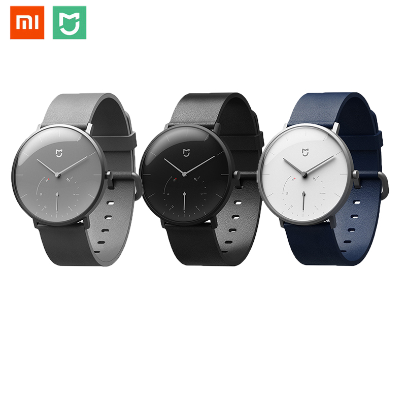 Original <font><b>Xiaomi</b></font> <font><b>Mijia</b></font> Quartz <font><b>Watches</b></font> Smart Band Pedometer Automatic Calibration time Vibrate reminder Stainless Wireless Connect image
