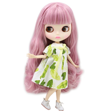 ICY Neo Blythe Doll Grey Pink Hair Jointed Body 30cm