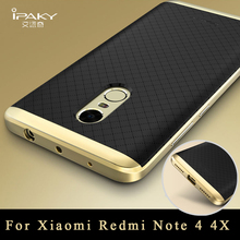 Xiaomi Redmi Note 4 Case Original ipaky Xiaomi Redmi Note 4 Pro silicone Back Cover + PC Frame For Xiaomi redmi note 4x cases(China)