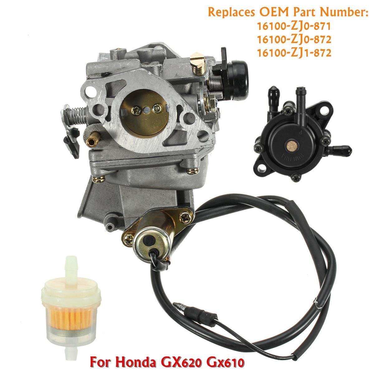 Carburetor Fuel Pump Filter Kits For Honda GX620 20HP GX610 18HP V Twin  Engine 16100 ZJ0 871 16100 ZJ0 872 16100 ZJ1 872-in Carburetors from  Automobiles ...