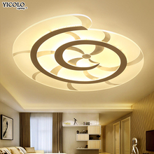 Ultra-thin  led ceiling light with remote control for living room study room decorative lampshade ceiling lamp lamparas de techo