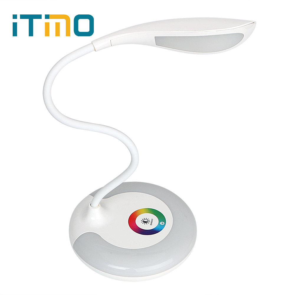 iTimo Dimmable LED Desk Lamp USB Charging Book Reading Light Rechargeable Table Lamp Tou ...