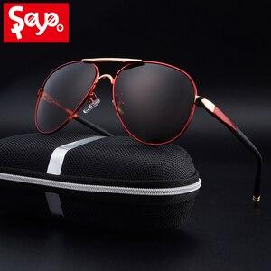 Image 1 - SAYLAYO HD Polarized Sunglasses Men Vintage New Male Cool Driving Sun Glasses Eyewear UV400 Protection Shades for Women