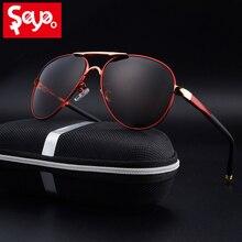 SAYLAYO HD 偏光サングラス男性ヴィンテージ新男性クール駆動太陽眼鏡 UV400 保護のための