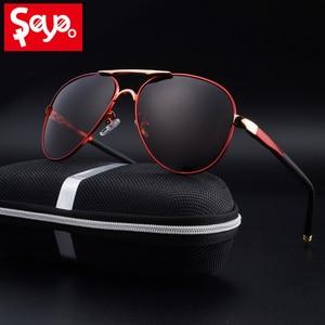 Image 1 - SAYLAYO HD spolaryzowane okulary mężczyźni w stylu Vintage nowy mężczyzna fajne okulary jazdy okulary odcienie UV400 dla kobiet