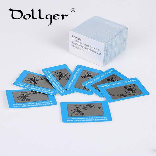 3724d7f58f971 placeholder 100 pcs TAC Lente Polarizada Cartão de Teste Cartão de Teste  para Teste de Polarização óculos