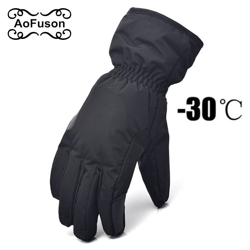 Ski Snowboard Gloves . Unisex Outdoor Windproof Waterproof Breathable Winter Warm Skiing Cycling Snow Plush Size Glove S-XXL