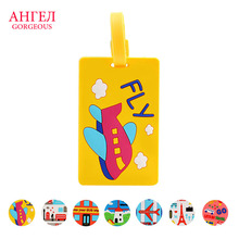 Brand new and high quality 7 color Portable Secure Travel Suitcase Name Address ID Luggage Handbag pvcLarge Tag Label LuggageTag