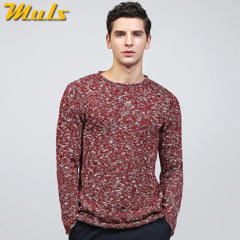 Muls mens maglioni pullover O collo scava fuori il disegno di marca  maglione abbigliamento uomo autunno inverno nero rosso jersey abito maschile  MS8925 in ... 9a75333d609