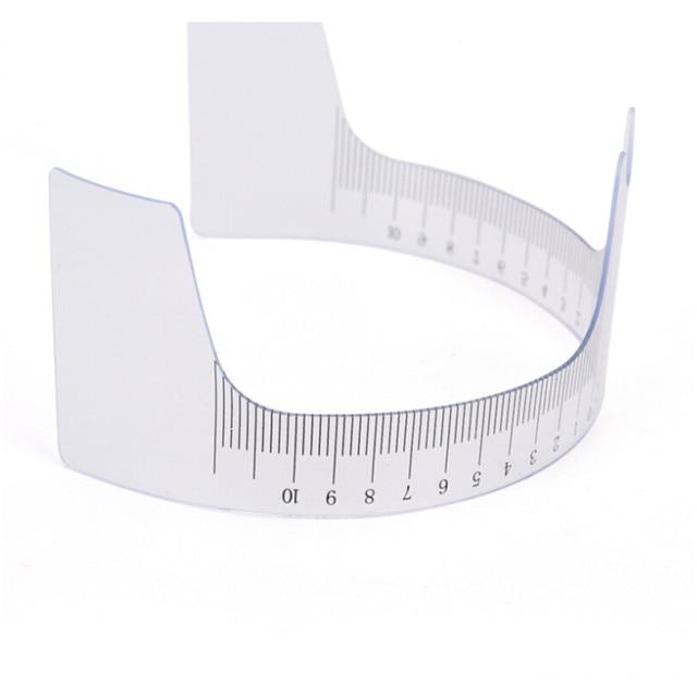 Eyebrow Grooming Stencil Shaper Ruler Measure Tool Makeup Reusable Eyebrow Ruler Tool Measures 3