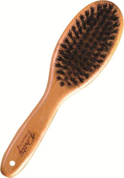 Livraison gratuite en bois poignée souple porc crinière chien brosse Enlever la poussière lumineux cheveux professionnel toilettage produits peigne facilement