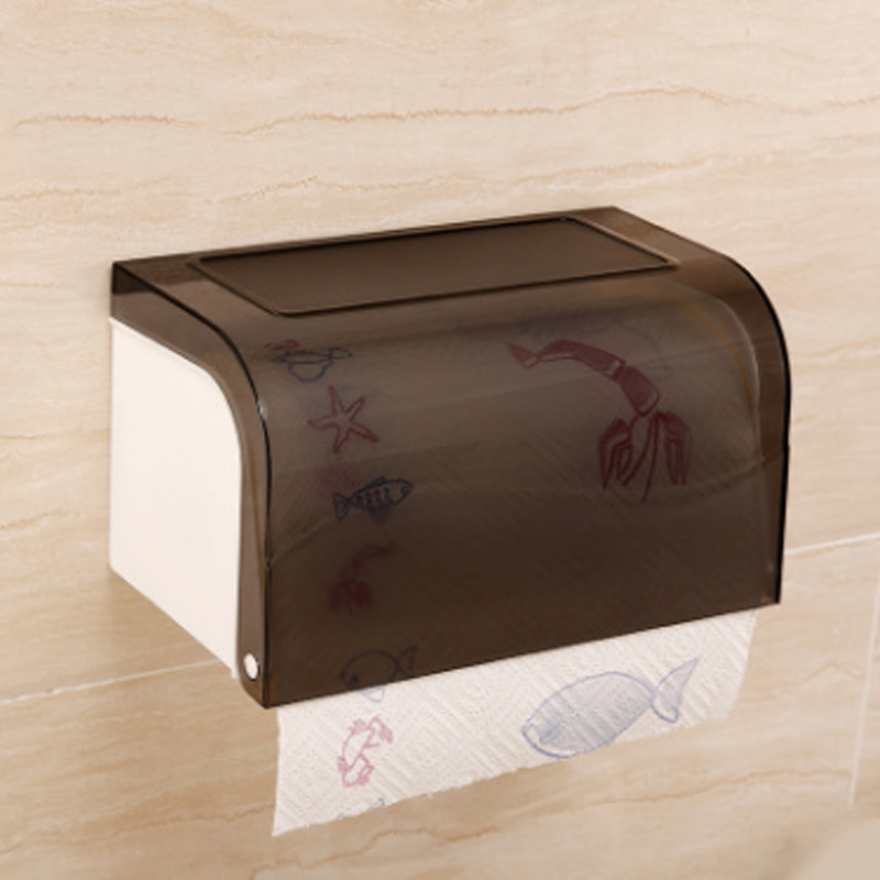 1 قطع صديقة للبيئة abs أصحاب الالتصاق غطاء ورقة مربع الأدوات الصحية الحمام المرحاض صاحب ورقة للماء