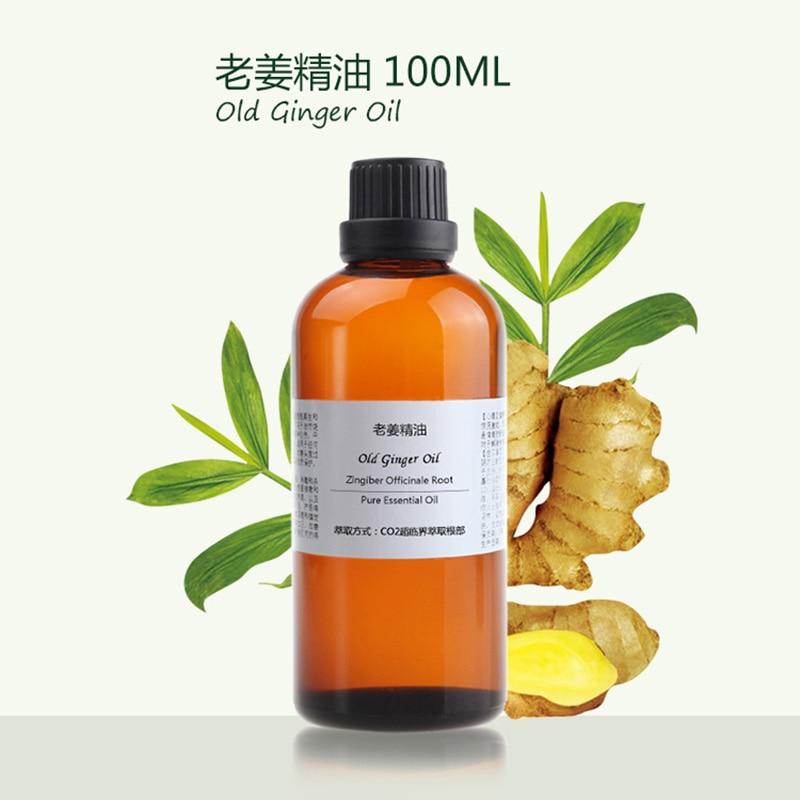 foot bath Food grade Essential Old Ginger Oil 100ml hair growth цена