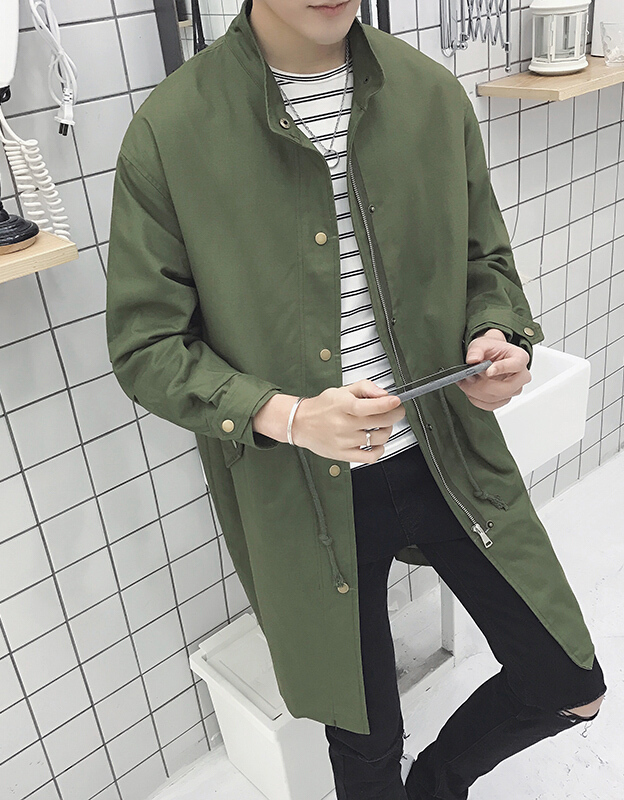 Mens Casual Long Coat Summer Cloak   Trench   Coat Overcoat Outwear