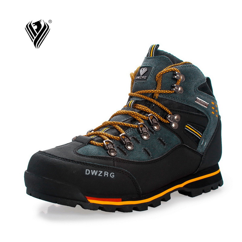 Men Hiking Shoes Waterproof Leather Shoes Climbing & Fishing Shoes New Popular Outdoor Shoes(China)