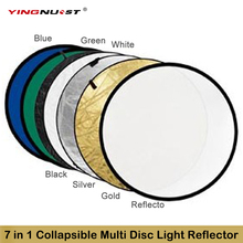 24″ 60cm 7 in 1 Transportable Collapsible Gentle Spherical Images Studio Reflector Multi Disc Reflector &bag Picture Studio Equipment