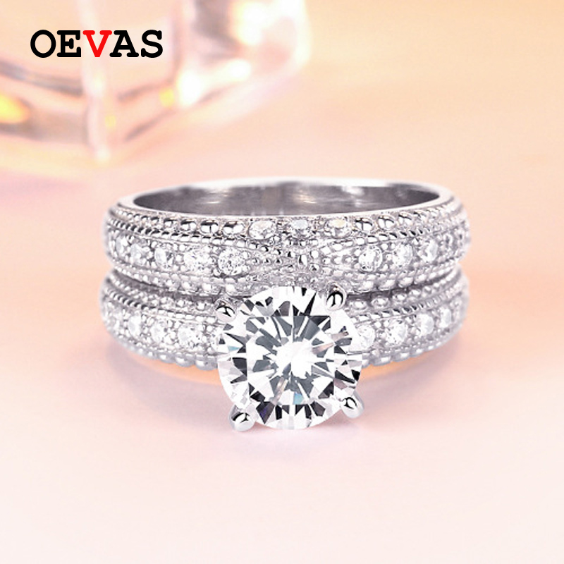 925 Sterling Silver Rings set for Women Top quality 36 pieces AAA CZ Wedding ringsRomantic Gift Engagement Jewelry Dropshipping