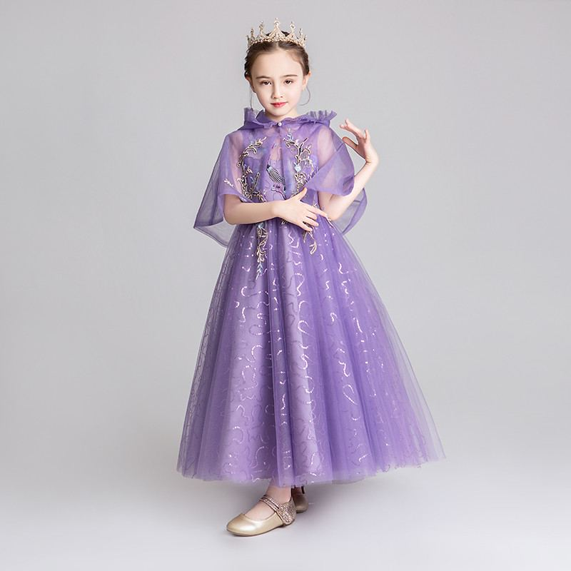 Teenage Girls Mesh With Shawl Tutu Princess Dress Kids Dresses For Girls Wedding Party Gowns Toddler Girl Clothes Vestido F171Teenage Girls Mesh With Shawl Tutu Princess Dress Kids Dresses For Girls Wedding Party Gowns Toddler Girl Clothes Vestido F171