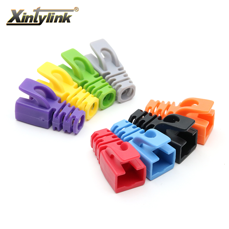xintylink rj45 caps cat6 cat5e cat5 connector multicolour boots 8p8c sheath protective sleeve ethernet cable network connectors