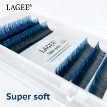 Get more info on the LAGEE Individual Faux Mink Eyelashes Extension Ombre Natural Lash Blue color False lashes Premium soft Salon Makeup tools