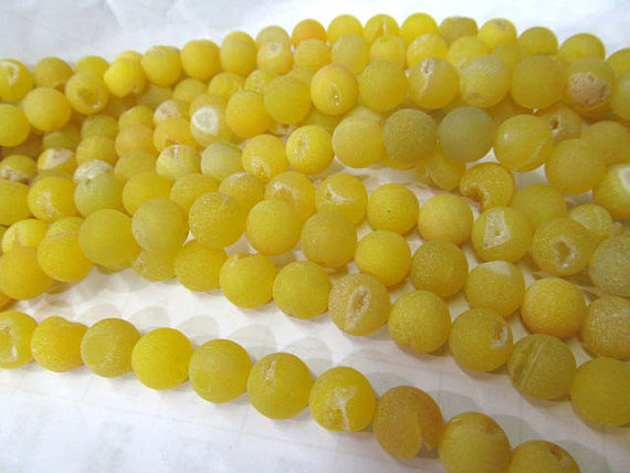wholesale bulk agate bead round ball crystal rock matt crab yellow mixed jewelry spacer 12mm --5strands 16inch