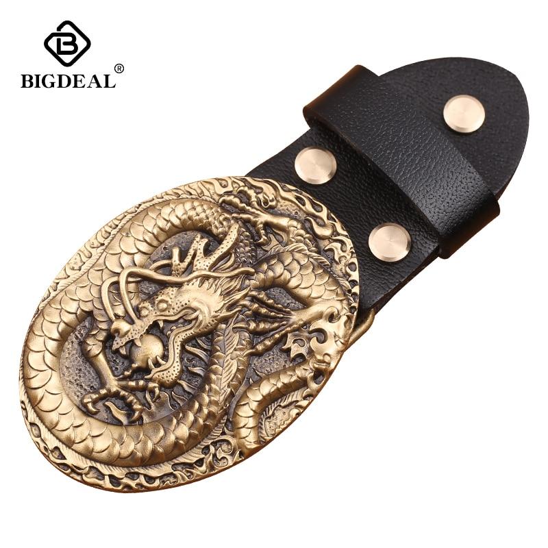 Retai Oval Luxury Solid Copper Brass Belt Buckle Cowboy Buckles Fit 4cm Wide Belt Men,Women,Jeans,Clothes Accessories