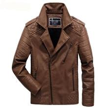 New PU Faux Casual Man Jackets Men Leather Jacket Male Coats Winter Warm Velvet Hombre Veste Motorcycle Outerwear Plus size 6XL