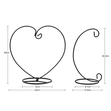 Heart and Moon Shaped Candle Holder