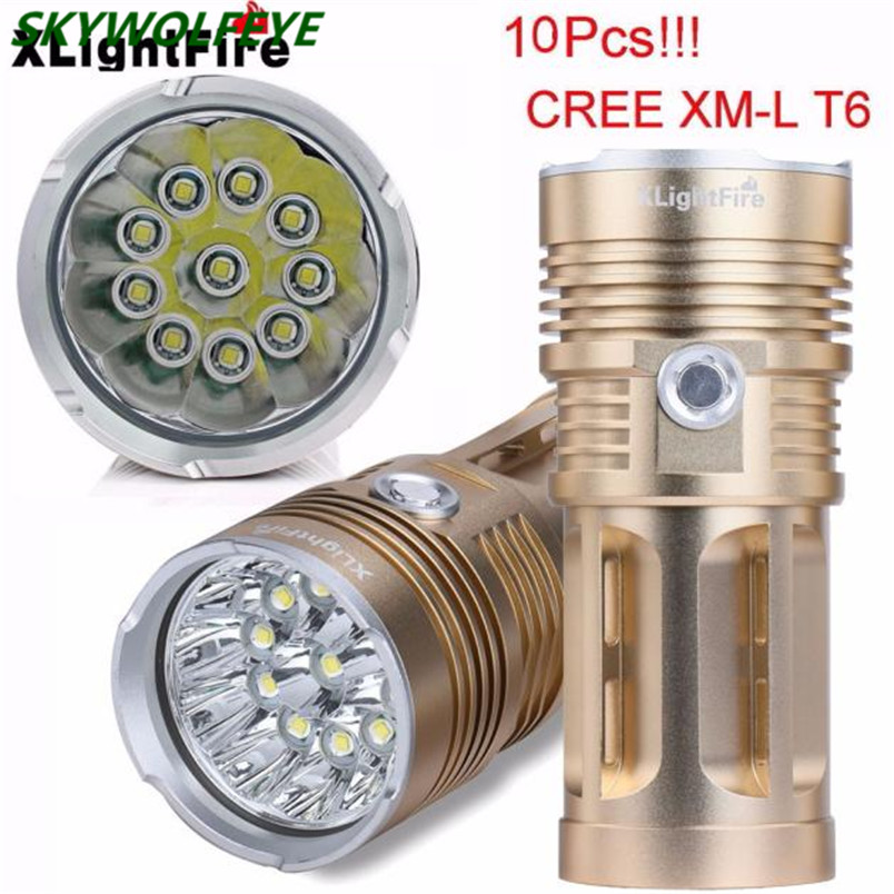 XLightFire 25000LM 10 x XM-L T6 LED Hunting Flashlight 4 x 18650 Lamp Torch Free Shipping #NO12 товар velosite 25000 рублей