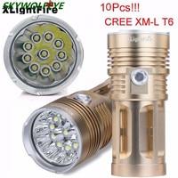 XLightFire 25000LM 10 x XM L T6 LED Hunting Flashlight 4 x 18650 Lamp Torch Free Shipping #NO12