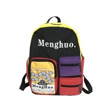 Menghuo Women Nylon Fabric Backpack Female Summer School Bags Backpacks for Teenage Girls Boys Men High Quality Bag pack