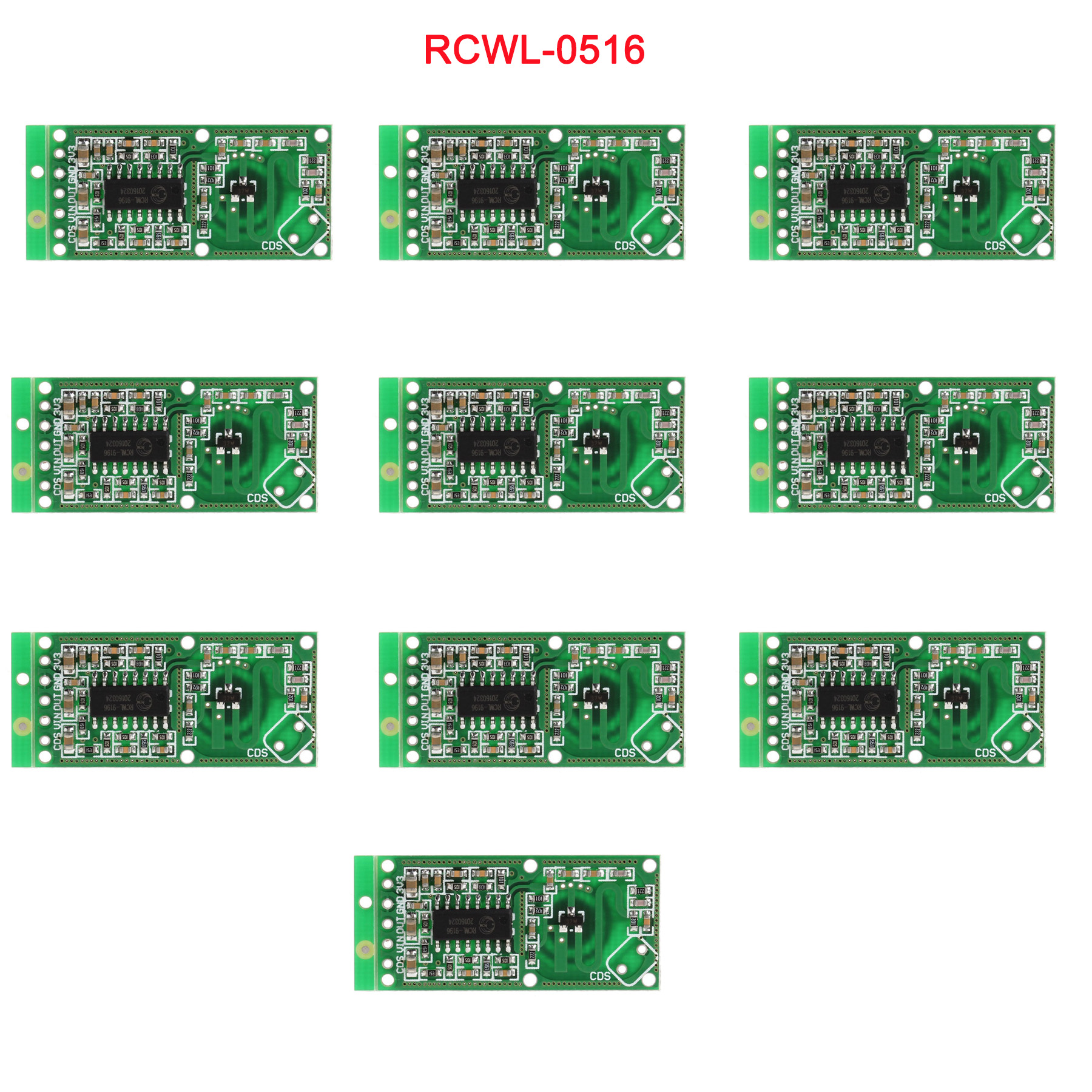 10pcs/lot RCWL-0516 Microwave Doppler Radar Sensor Switch Module Human Induction Board Detector For Arduino RCmall