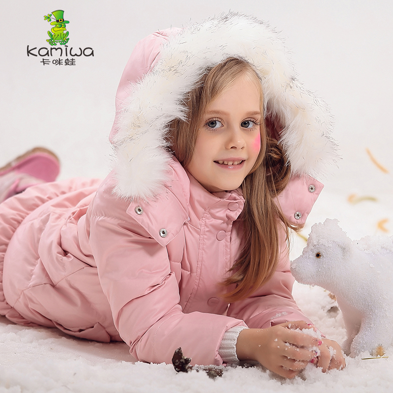 Girl  Coat  Winter duck Down And Jackets Kids Outwear Warm  Jacket Girls Clothes Parkas Children Baby Girls Clothing with hooded недорого