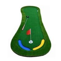 CRESTGOLF 2.95*9.84 ft Golf Mats Putting Green Trainer Artificial Grass Golf Putting Practice Indoor/Outdoor Training Aids