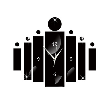 Creative 3D Acrylic Technology Digital Mirror Wall Clock
