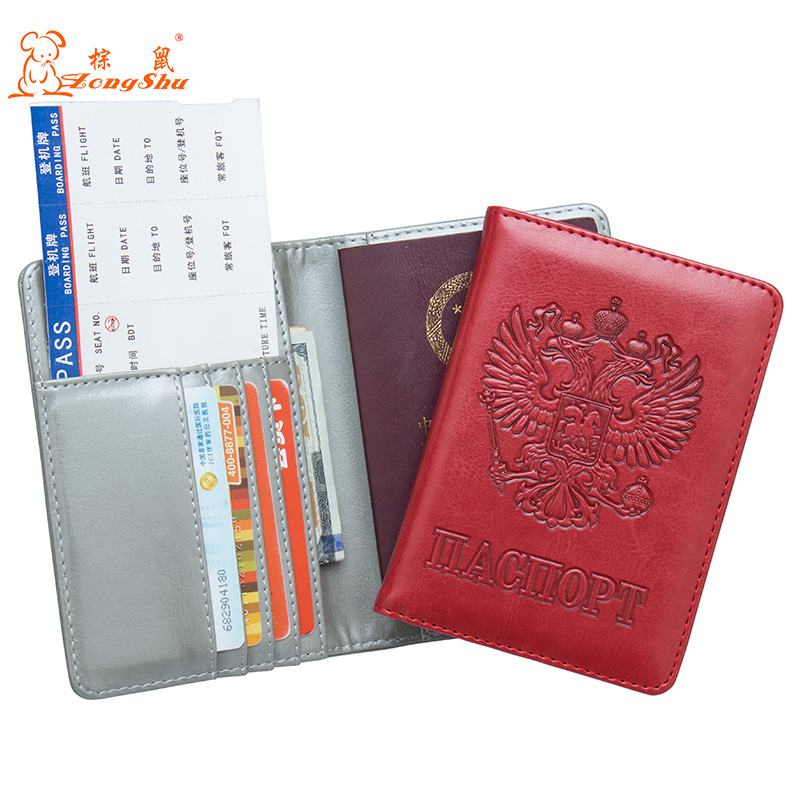 Russian Pu Leather Passport Cover Complex Blue Travel Passport Cover Built In Rfid Blocking Protect Personal Information Card & Id Holders Coin Purses & Holders