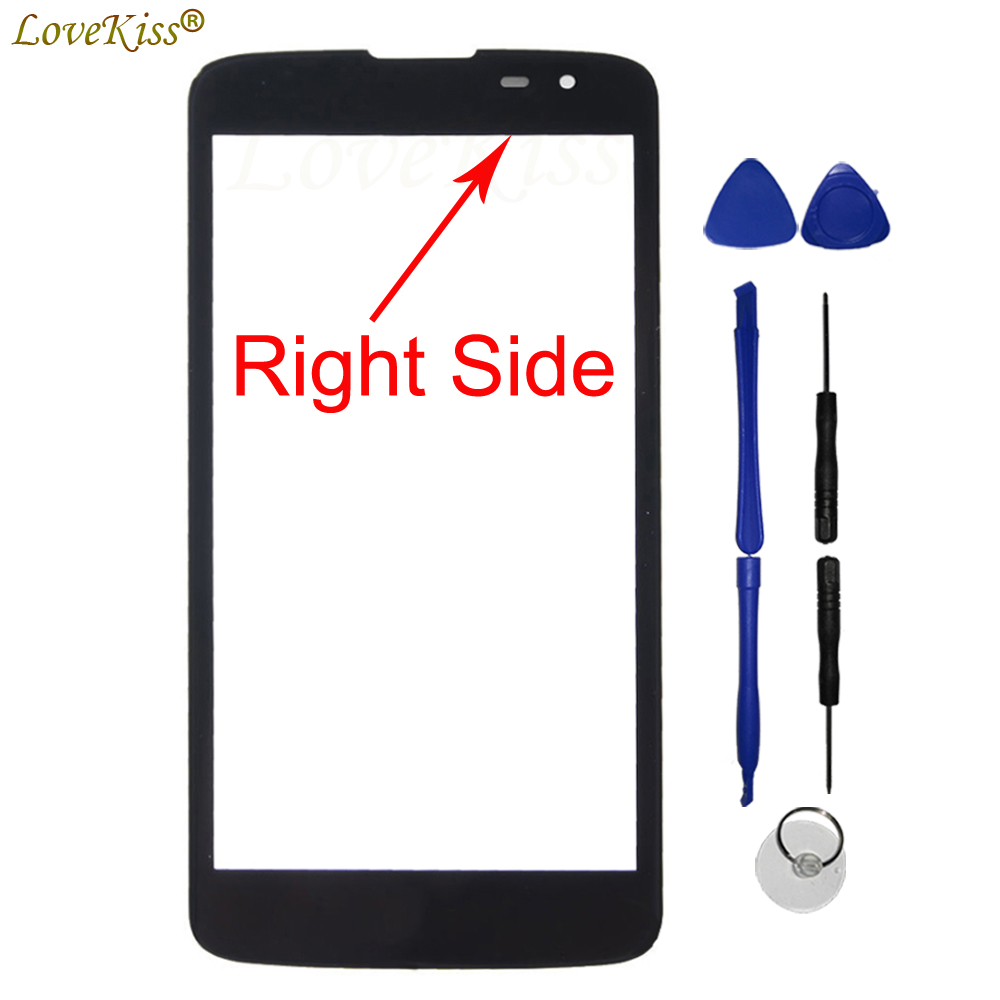 Front Panel For LG K7 X210 LS675 Tribute 5 X210DS Touch Screen Sensor K7 Touchscreen LCD Display Glass Lens Cover K7 Replacement