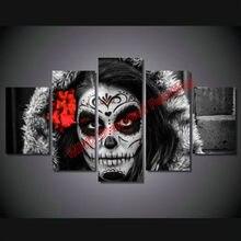 Ny Ankomst Kvinde Skull Icon Diy Diamant Maleri Krystal 3D DIY Diamond Cross Stitch Fuld Ankomst Kvinde Skull Icon DMC Kvinde