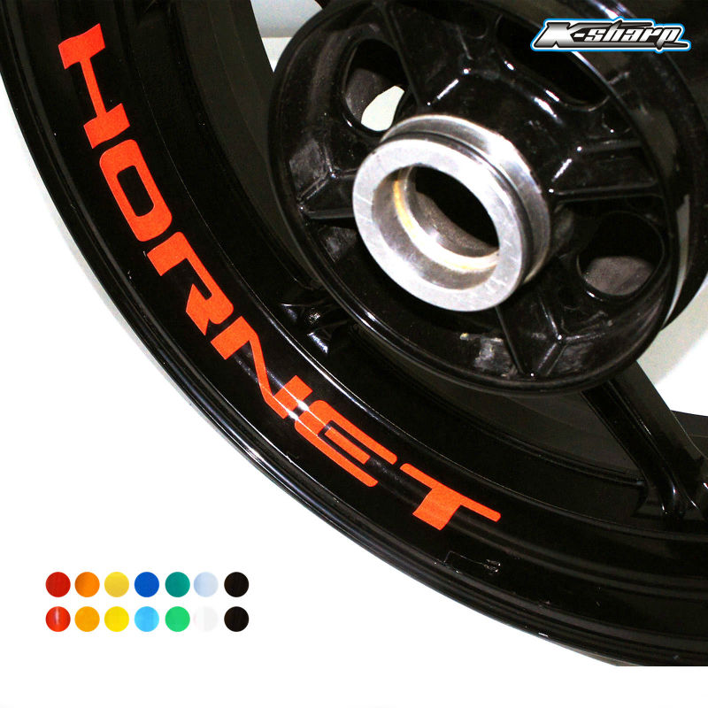 8 X CUSTOM INNER RIM DECALS WHEEL Reflective STICKERS STRIPES FIT HONDA  HORNET